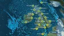 Weather: Bright day but rain, sleet and snow on the way