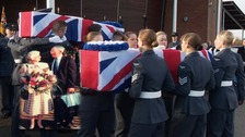 Hundreds attend funeral for RAF couple who died with no living relatives