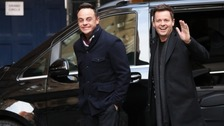 Back together - Ant and Dec arrive at the London Palladium for BGT auditions