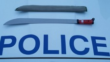Man caught with machete in Essex