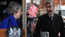 Theresa May and Jacob Rees-Mogg.
