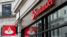 Santander's signage is set to diminish on the high streets of the UK