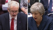 May and Corbyn clash over Brexit red lines at fiery PMQs
