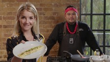 Helen Skelton presents 'Food Challenge: Meat vs Vegan', on ITV at 7:30pm.