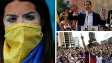 Violence in Venezuela as Maduro's rival claims to hold office