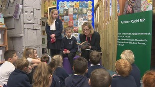 amber rudd opens children's library
