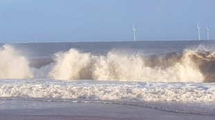 The Met Office is warning some coastal routes and sea fronts may be affected by spray and large waves.