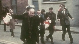 BISHOP DALY TROUBLES BLOODY SUNDAY 1972 NICRA MARCH PARACHUTE ARMY KILLING PPS DERRY LONDONDERRY