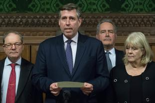 Sir Graham Brady (centre) has tabled an amendment that would back the Withdrawal Agreement as long as 'alternative arrangements' were found to replace the Irish border backstop