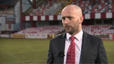 "The new Cliftonville manager told UTV he's ""delighted""."