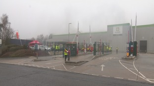 Fire at a distribution warehouse