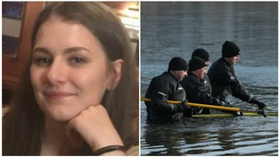 Libby Squire and police searching Oak Road Pond in Hull.