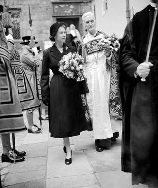 A young Queen at the Maundy Thursday ceremony in 1952 – the first public engagement of her reign