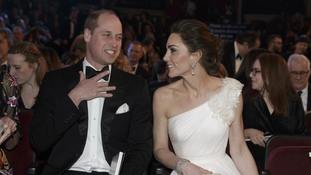 Cheers for William and Kate as they walk the red carpet at Bafta film awards