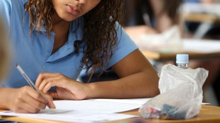 Pupils sit GCSE exams at 16 years of age.