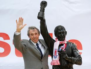Having made more than 200 appearances for Stoke, Banks was awarded with a statue outside the Britannia Stadium