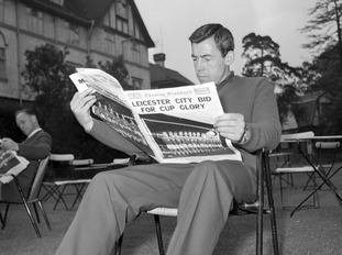 Reading the Evening Standard ahead of the 1963 FA Cup final.
