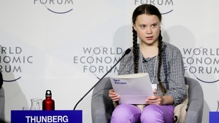 Now 16, Greta told politicians in Davos to act as though 'the house is on fire'.