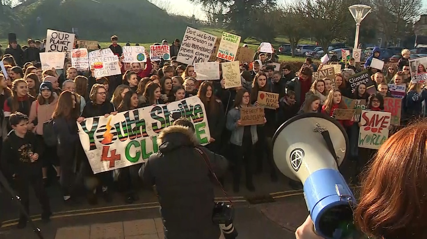Protest News: Thousands Of Students Go On Strike From School In Climate
