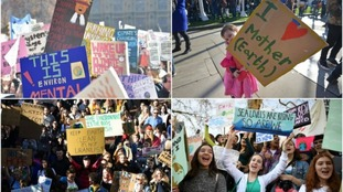 Schoolchildren across the UK have been protesting about climate change.