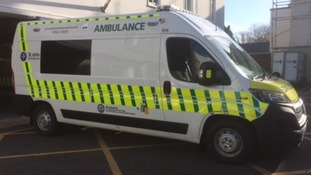 The new ambulance being unveiled