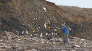Residents call for action over eroded landfill site on Lynemouth Beach