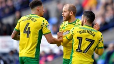 Teemu Pukki (centre) has been on fire for Norwich City this season.