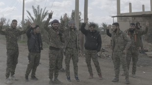 SDF fighters say goodbye to their comrades as the fight against the Islamic State group reaches its final push.