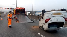 Delays on M1 following crash