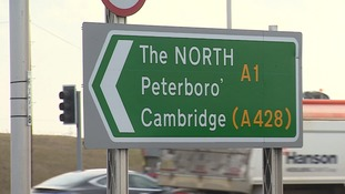 The junction is where the A1, A421 and the A428 meet.