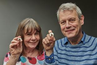 Julia Donaldson and Axel Scheffer have backed the coins celebrating 20 years of the Gruffalo