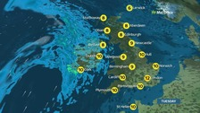 Sunshine replaced by showers as wet and windy weather moves in