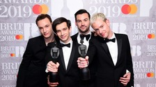 The 1975 celebrate double success at the Brit Awards