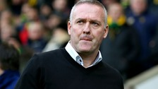 Paul Lambert was sent off at Carrow Road.