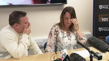 eah's parents John and Claire make an emotional appeal for her to come home.