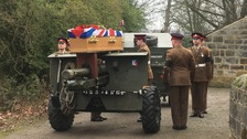 Military funeral takes place for WW2 veteran from Leeds