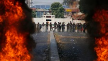 Venezuelan soldiers abandon border posts amid violent clashes