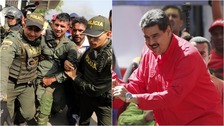 Maduro vows never to surrender as soldiers abandon border posts
