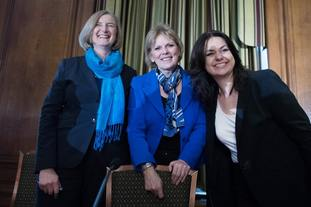 Sarah Wollaston, left, Anna Soubry, centre, and Heidi Allen have left the Tories for the new Independent Group of MPs