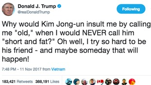 Trump and Kim traded insults throughout 2017, but the US president's prediction that the two may one day become friends appears to have come true.