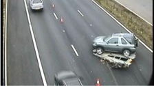 One of the vehicles involved in the collision on the M4.