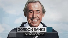 Gordon Banks' funeral took place in Stoke-on-Trent, where thousands of people lined the streets to honour him.