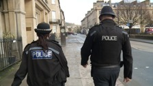Police officers on the beat in Bath.