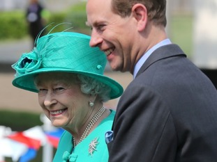 Prince Edward with his mother the Queen