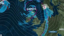 An Atlantic depression has been named Storm Gareth and is expected to bring strong winds to the Anglia region.