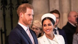 The Duke and Duchess of Sussex at the Commonwealth Service at Westminster Abbey.