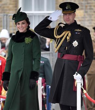 Kate and William at last year's parade