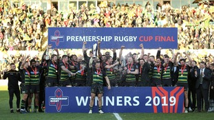 Northampton Saints beat Saracens at Franklin's Gardens.
