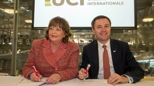 Tourism secretary Fiona Hyslop (pictured left) has signalled the tax would eventually be levied.