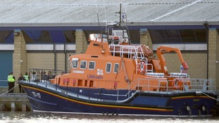 RNLI lifeboat at Grimsby Docks